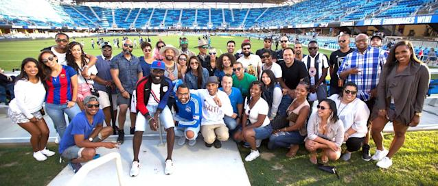 Black Arrow FC, a platform focused on the intersection of black culture and soccer, poses for a photo after its event at the San Jose Earthquakes game. (Provided by Aaron Dolores)