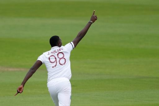 West Indies captain Jason Holder was the star man as England collapsed in the first Test