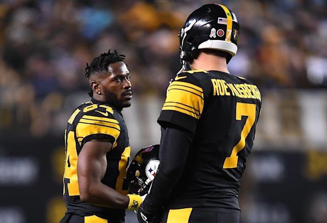 Antonio Brown felt there was a double standard in the Steelers' treatment of him compared to Ben Roethlisberger, and it played a role in the melodrama. (Getty)