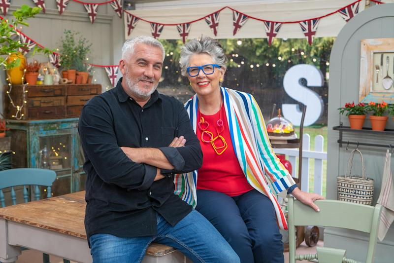 'GBBO' judges Paul Hollywood and Prue Leith. (C4)