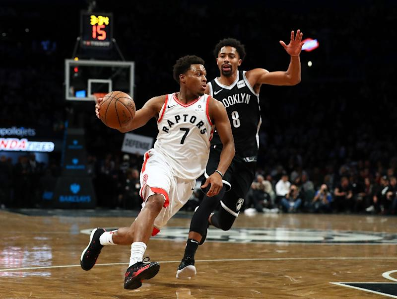 3ee369f40 Kyle Lowry (L) scored 30 points for the Eastern Conference leading Raptors