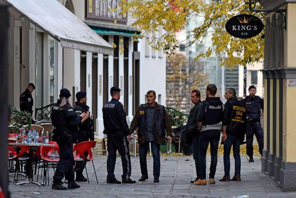 PHOTO: Criminal investigators inspect a crime scene in the city center the day after a deadly shooting spree, Nov. 3, 2020, in Vienna, Austria. (Thomas Kronsteiner/Getty Images)