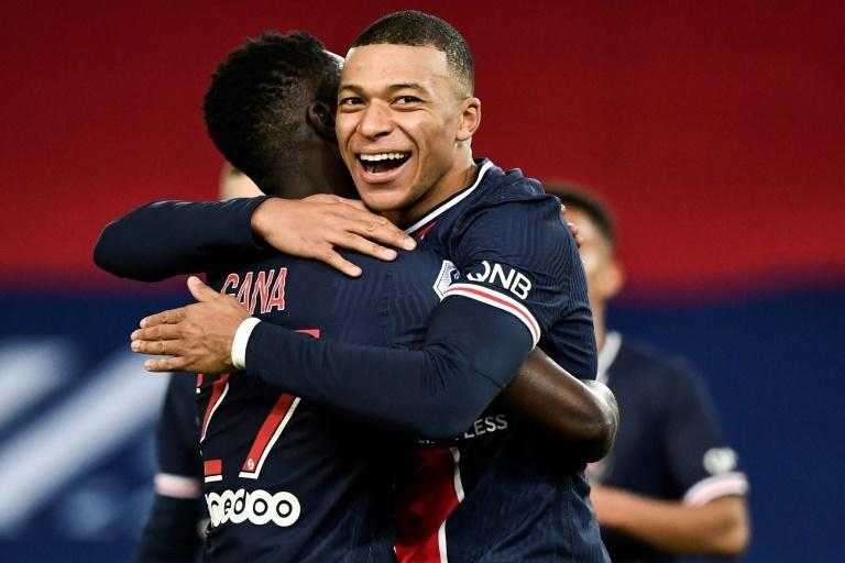 Mbappe scored his 12th league goal this term