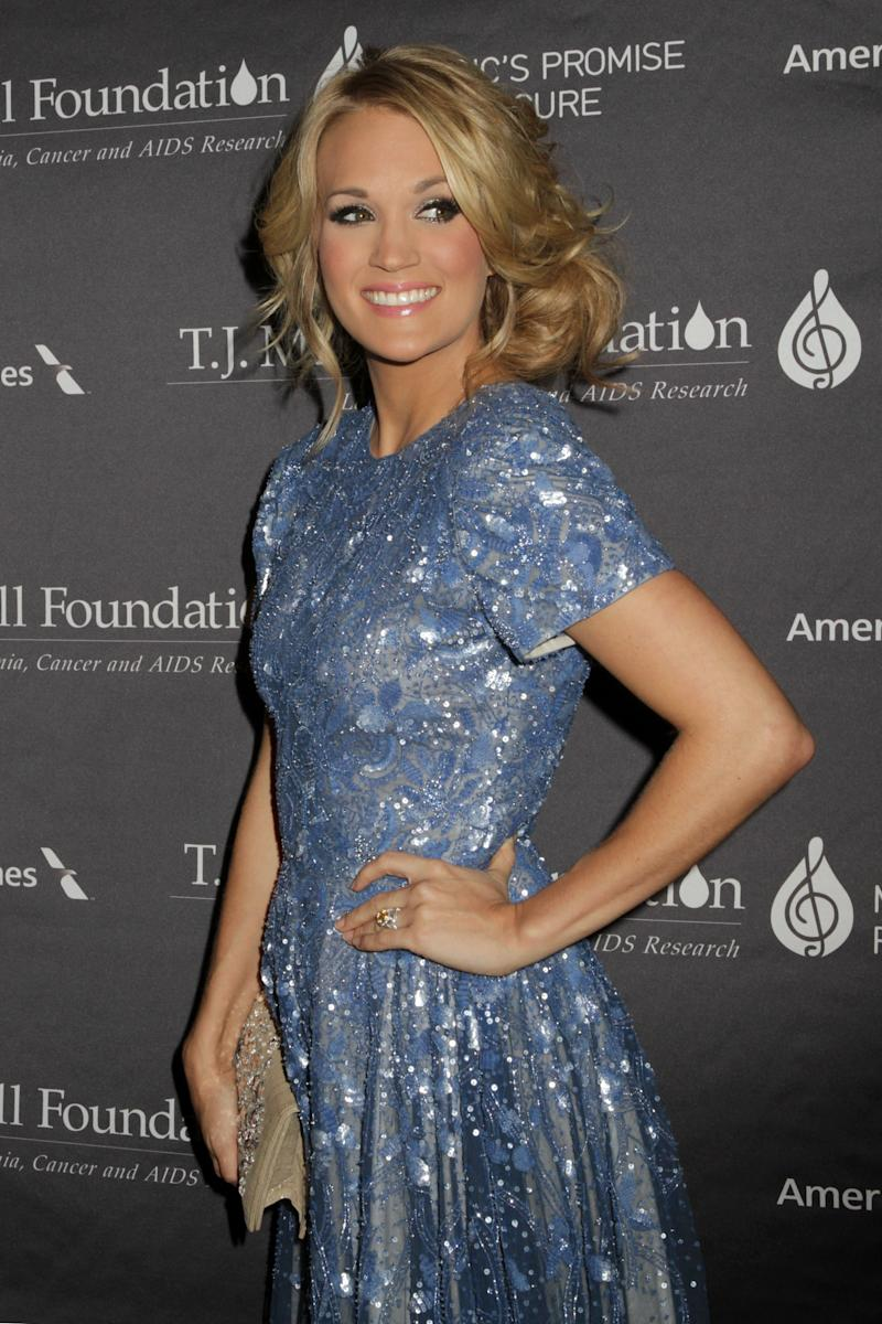 Carrie Underwood attends the T.J. Martell Foundation 38th Honors Gala, on Tuesday, Oct. 22, 2013, in New York. (Photo by Greg Allen/Invision/AP)