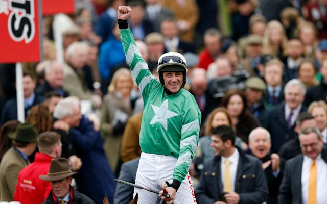 <span>Davy Russell wins the Pertemps on Presenting Percy</span> <span>Credit: Andrew Boyers/Reuters </span>
