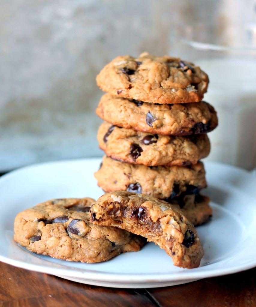 """<p>They're flourless and have no butter, so there's literally nothing to feel guilty about.</p><p>Get the recipe from <a href=""""http://www.ambitiouskitchen.com/2013/03/peanut-butter-oatmeal-chocolate-chip-cookies-flourless-no-butter/"""" rel=""""nofollow noopener"""" target=""""_blank"""" data-ylk=""""slk:Ambitious Kitchen"""" class=""""link rapid-noclick-resp"""">Ambitious Kitchen</a>.</p>"""
