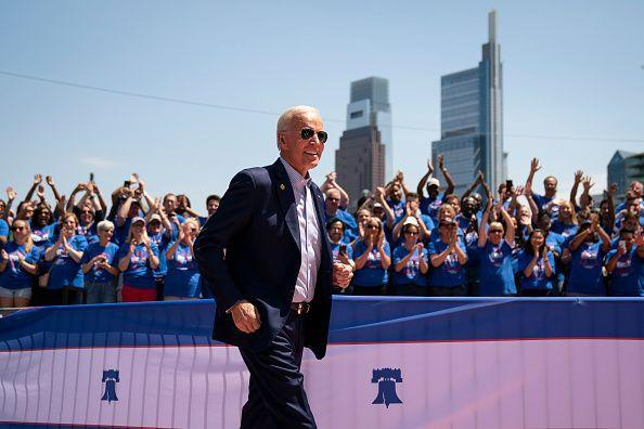 <p>In 2019, Biden announced he <em>would </em>run for president again. Photographed here in May 2019, since announcing his candidacy in late April, he had taken the top spot in all polls of the sprawling Democratic primary field. Biden's rally on this day was his first large-scale campaign rally after doing smaller events in Iowa and New Hampshire in the past few weeks. </p>