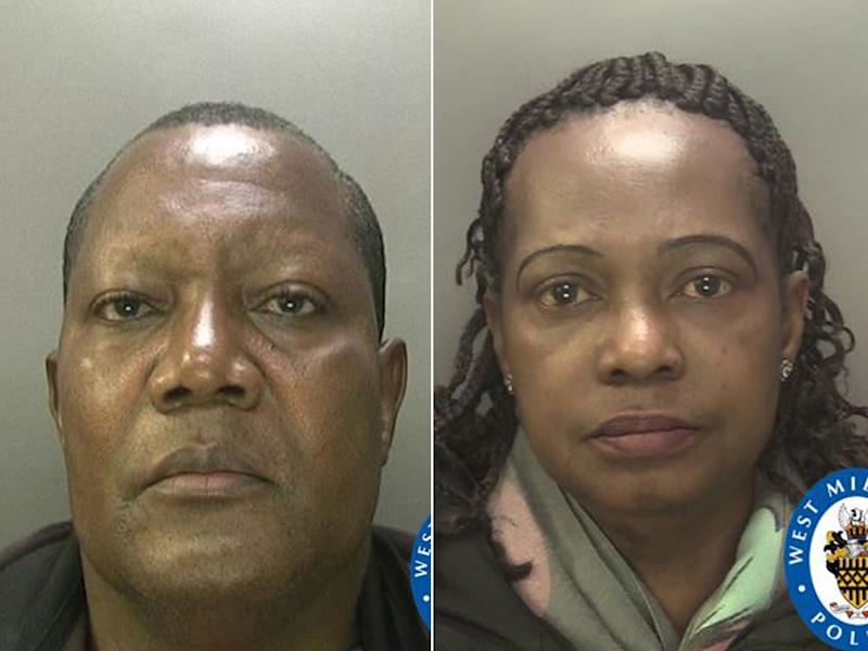 Michael and Juliana Oluronbi, who have been convicted over the abuse of children: West Midlands Police