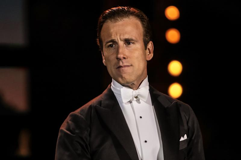 LONDON, UNITED KINGDOM - SEPTEMBER 07: Anton Du Beke performs on stage as part of BBC Proms In The Park at Hyde Park on September 7, 2013 in London, England. (Photo by Christie Goodwin/Redferns via Getty Images)