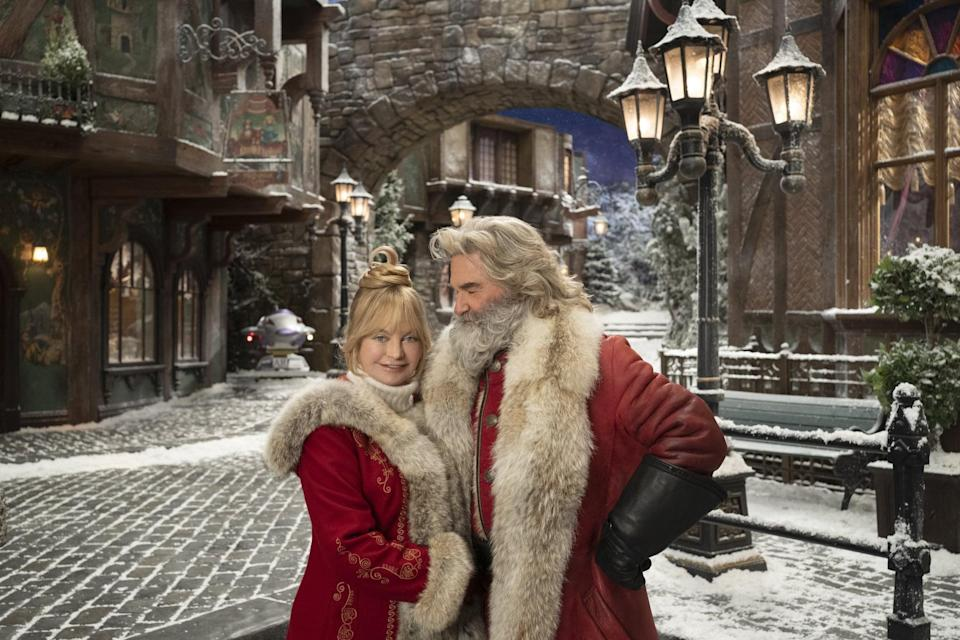 """<p>Following the success of 2018's <strong>The Christmas Chronicles</strong>, Kurt Russell and <a class=""""link rapid-noclick-resp"""" href=""""https://www.popsugar.com/Goldie-Hawn"""" rel=""""nofollow noopener"""" target=""""_blank"""" data-ylk=""""slk:Goldie Hawn"""">Goldie Hawn</a> reprise their roles as Santa and Mrs. Claus in the sequel. </p> <p>Watch <a href=""""https://www.netflix.com/title/80988988"""" class=""""link rapid-noclick-resp"""" rel=""""nofollow noopener"""" target=""""_blank"""" data-ylk=""""slk:The Christmas Chronicles 2""""><strong>The Christmas Chronicles 2</strong></a> on Netflix now.</p>"""
