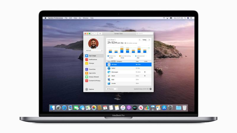 Screen Time comes to macOS. Image: Apple