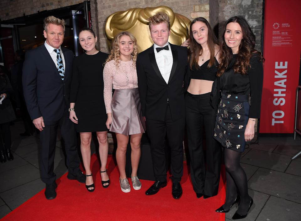 Gordon Ramsay, Holly Anna Ramsay, Matilda Ramsay, Jack Scott Ramsay, Megan Jane Ramsay and Tana Ramsay attend the BAFTA Children's Awards at The Roundhouse on November 20, 2016 in London, England.  (Photo by Karwai Tang/WireImage)