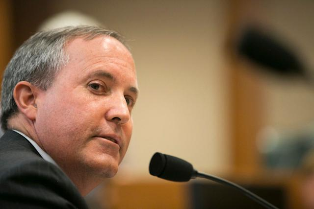 Texas Attorney General Ken Paxton celebrated Monday's ruling that partially lifts an injunction to keep a state immigration crackdown from going into effect.