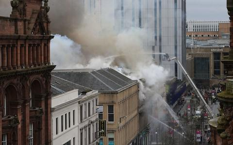 glasgow fire - Credit: PA
