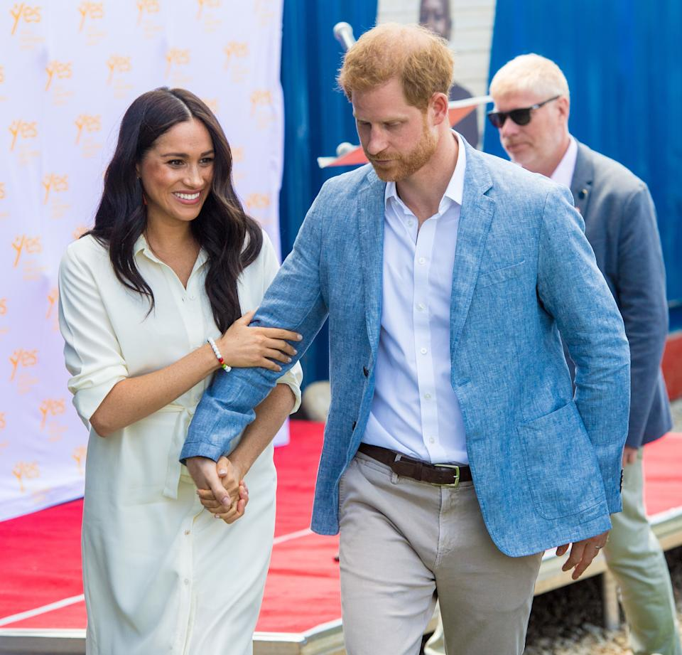 "The Prince Harry office has confirmed that he and his family will be spending ""private time"" in Canada over the Christmas holidays. Harry, his wife Meghan and their 7-month-old son Archie will miss Queen Elizabeth II's traditional Christmas gathering at the Sandringham estate. Palace officials Friday night confirmed Harry's family is in Canada but did not provide details. Meghan lived in Canada for many years before she married Harry while she was filming the TV series ""Suits."" (Photo by DPPA/Sipa USA)"