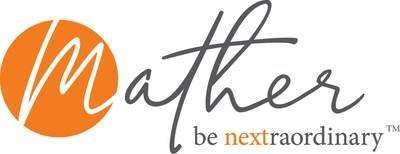 """The new identity includes a distinct, contemporary logo with a signature feel that invokes a human touch, while retaining Mather's widely recognized bold orange color, in use since 2004.  Mather's new tagline, """"Be Nextraordinary"""" embodies the organization's commitment to surpassing the ordinary, turning everyday moments into extraordinary ones. (PRNewsfoto/Mather)"""