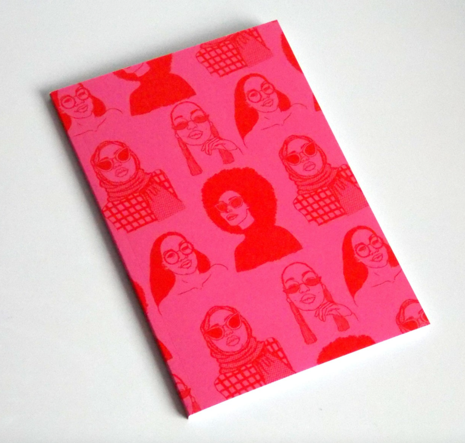'BHM Repeat' Pattern Notebook (Photo via Etsy)