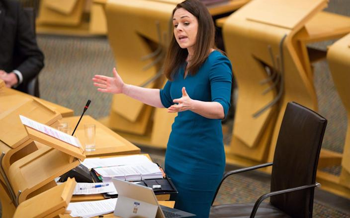 Kate Forbes delivering her budget at the Scottish parliament on January 28 - Robert Perry/Getty Images Europe