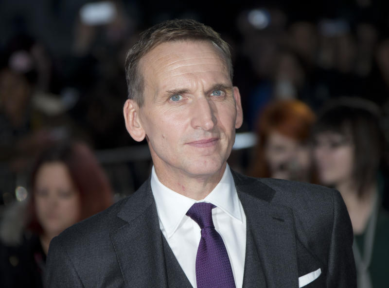 British actor Christopher Eccleston arrives for the World Premiere of Thor: The Dark World at a central London cinema, Tuesday, Oct. 22, 2013. (Photo by Joel Ryan/Invision/AP)