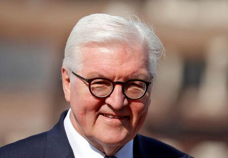 FILE PHOTO: Germany's President Frank-Walter Steinmeier is pcitured during his visit to the Jama Masjid (Grand Mosque) in the old quarters of Delhi, India, March 23, 2018. REUTERS/Cathal McNaughton