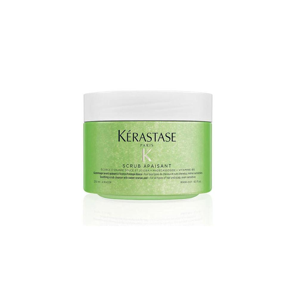 """<p>Kérastase's Relaxing Scrub contains a bevy of scalp-soothing ingredients, including jojoba and sweet orange peel, as well as and madecassoside, an ingredient that's commonly used in traditional Chinese medicine to treat a variety of skin disorders. Additionally, it hydrates and nourishes dry, sensitive scalps with vitamin B5.</p> <p><strong>$50</strong> (<a href=""""https://shop-links.co/1692599848818165749"""" rel=""""nofollow"""">Shop Now</a>)</p>"""