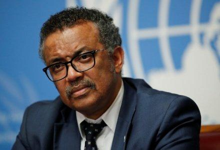 FILE PHOTO: Director-General of the World Health Organization (WHO) Tedros Adhanom Ghebreyesus attends a news conference after an Emergency Committee meeting on the Ebola outbreak in the Democratic Republic of Congo, and two days before the start of the WHO's annual World Health Assembly at the United Nations in Geneva, Switzerland, May 18, 2018. REUTERS/Denis Balibouse