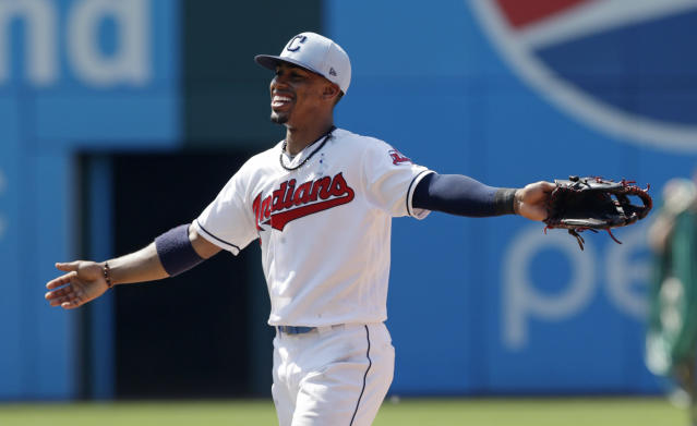 Francisco Lindor is always smiling, and he could put a smile on Cleveland fans' faces, even after LeBron James' departure. (AP Photo/Tony Dejak)