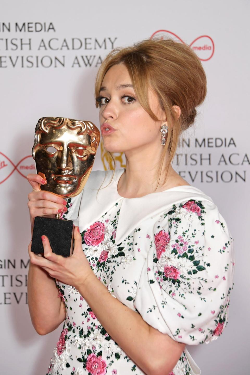 LONDON, ENGLAND - JUNE 06:   Aimee Lou Wood, winner of the Best Female Comedy Performance award for her role in