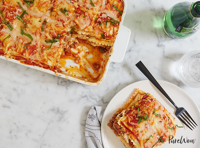 "<p>Skipping the traditional noodles is a genius shortcut.</p> <p><a class=""cta-button-link"" href=""https://www.purewow.com/recipes/ravioli-lasagna"" target=""_blank"">Get the recipe</a></p>"
