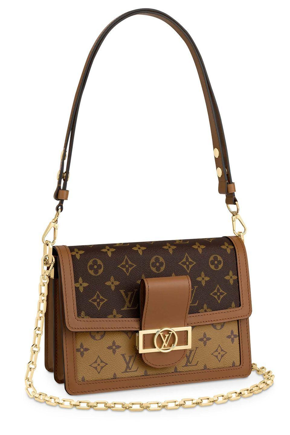 """<p><a class=""""link rapid-noclick-resp"""" href=""""https://uk.louisvuitton.com/eng-gb/products/dauphine-monogram-nvprod1120030v"""" rel=""""nofollow noopener"""" target=""""_blank"""" data-ylk=""""slk:SHOP NOW"""">SHOP NOW</a></p><p>Add some glamour to literally any look with Louis Vuitton's beautiful Dauphine bag, which was first introduced in the house's cruise 2019 collection.</p><p> Leather bucket bag, £2,360, <a href=""""https://uk.louisvuitton.com/eng-gb/products/dauphine-monogram-nvprod1120030v"""" rel=""""nofollow noopener"""" target=""""_blank"""" data-ylk=""""slk:Louis Vuitton"""" class=""""link rapid-noclick-resp"""">Louis Vuitton</a><br></p>"""