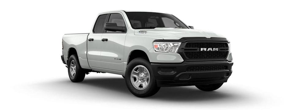 "<p><strong>Configuration: </strong>Tradesman, Quad Cab, 4x2</p><p>The <a href=""https://www.caranddriver.com/ram/1500"" rel=""nofollow noopener"" target=""_blank"" data-ylk=""slk:Ram 1500"" class=""link rapid-noclick-resp"">Ram 1500</a> was new for 2019 and is our favorite of the full-size pickups. We even awarded it a <a href=""https://www.caranddriver.com/features/a29797692/10best-2020-ram-1500/"" rel=""nofollow noopener"" target=""_blank"" data-ylk=""slk:10Best trophy"" class=""link rapid-noclick-resp"">10Best trophy</a> for 2020. In its most affordable form, you get an extended-cab Ram Tradesman with rear-wheel drive and a V-6 engine. There's no regular-cab model available. If you're looking for a cheaper Ram, you can step back in time to the old model, which Ram currently sells as the 1500 Classic, found elsewhere on this list.</p>"