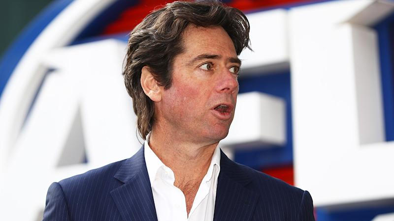 AFL CEO Gillon McLachlan has admitted the league made crucial errors in communication their expectations for Indigenous players to be vaccinated. (Photo by Robert Cianflone/Getty Images)