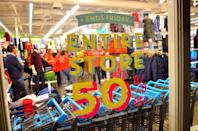 """<p>That means retail workers don't get the same well-deserved break. It's a huge holiday <a href=""""https://www.goodhousekeeping.com/life/money/a28073241/best-labor-day-sales-2019/"""" rel=""""nofollow noopener"""" target=""""_blank"""" data-ylk=""""slk:when it comes to sales"""" class=""""link rapid-noclick-resp"""">when it comes to sales</a> (like <span class=""""redactor-unlink"""">Black Friday</span>), especially for <span class=""""redactor-unlink"""">clothes and school supplies.</span><br></p>"""