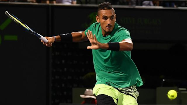 A week after Nick Kyrgios withdrew from a match with Roger Federer due to food poisoning, the two will meet in the Miami Open semifinals.