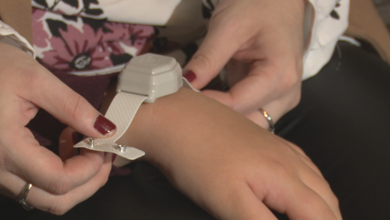 P.E.I. mother promotes wrist device for people prone to wander