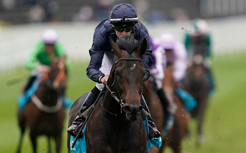 Donnacha O'Brien rides Sir Dragonet to victory at the Chester Vase Stakes at Chester Racecourse - Getty Images Europe