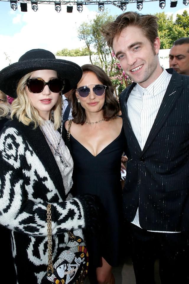 <p>At the Christian Dior soiree, we're sure, J.Law, RPattz, and Portman (NPort?) talked about what it's like to be famous and fabulous. (Photo: Bertrand Rindoff Petroff/Getty Images) </p>