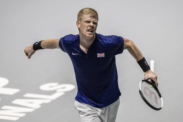 Kyle Edmund impressed as he came in for Andy Murray (Bernat Armangue/AP)