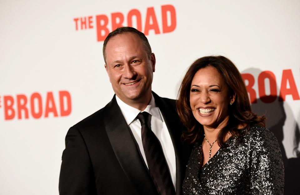 California Attorney General Kamala Harris and her husband Douglas Emhoff pose together at The Broad museum's opening and inaugural dinner on Thursday, Sept. 17, 2015, in Los Angeles. (Photo: Chris Pizzello/Invision/AP)