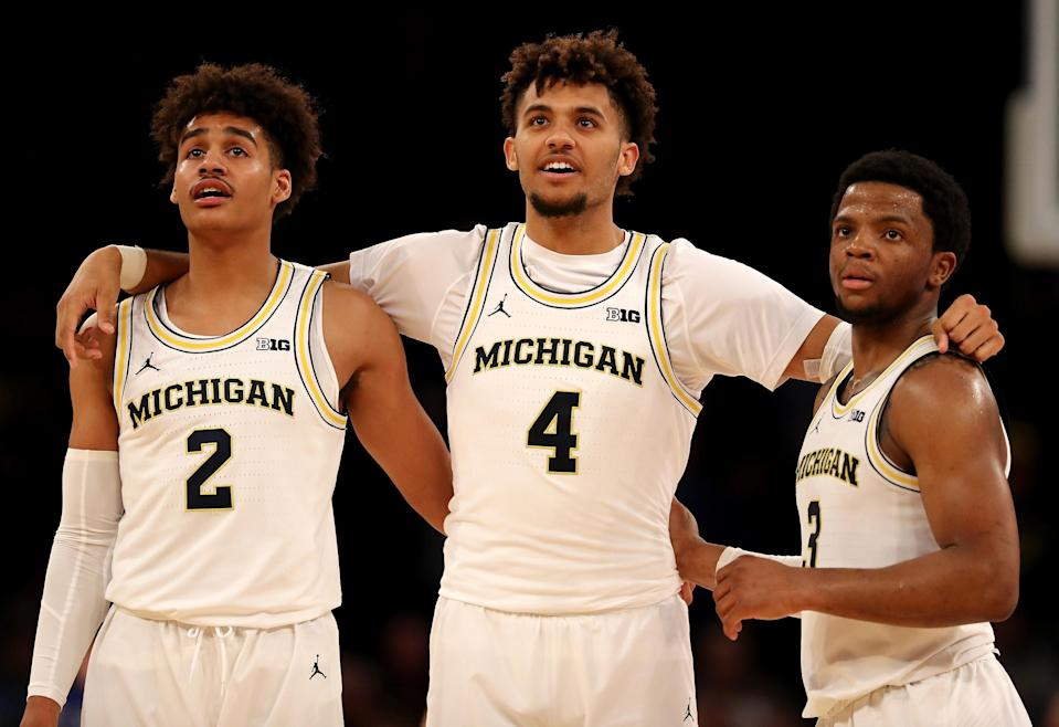 Las Vegas likes Michigan to outplay its No. 3 seed in the NCAA tournament. (Getty Images)