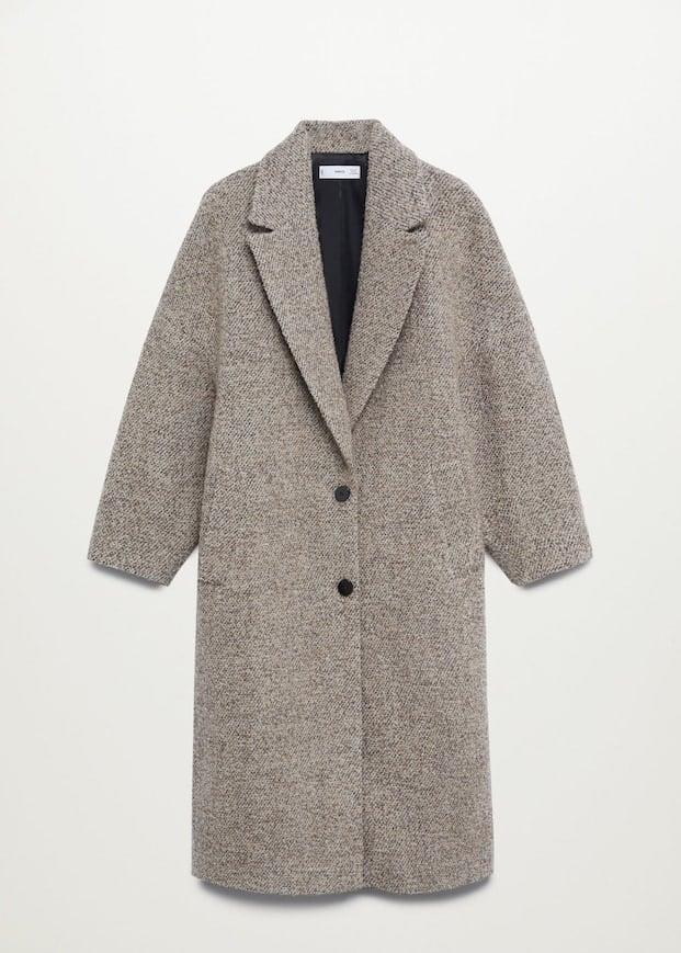 <p>Top off your look with this <span>Mango Oversize Wool Coat</span> ($150). The longline collar leaves just enough room for a chunky scarf.</p>