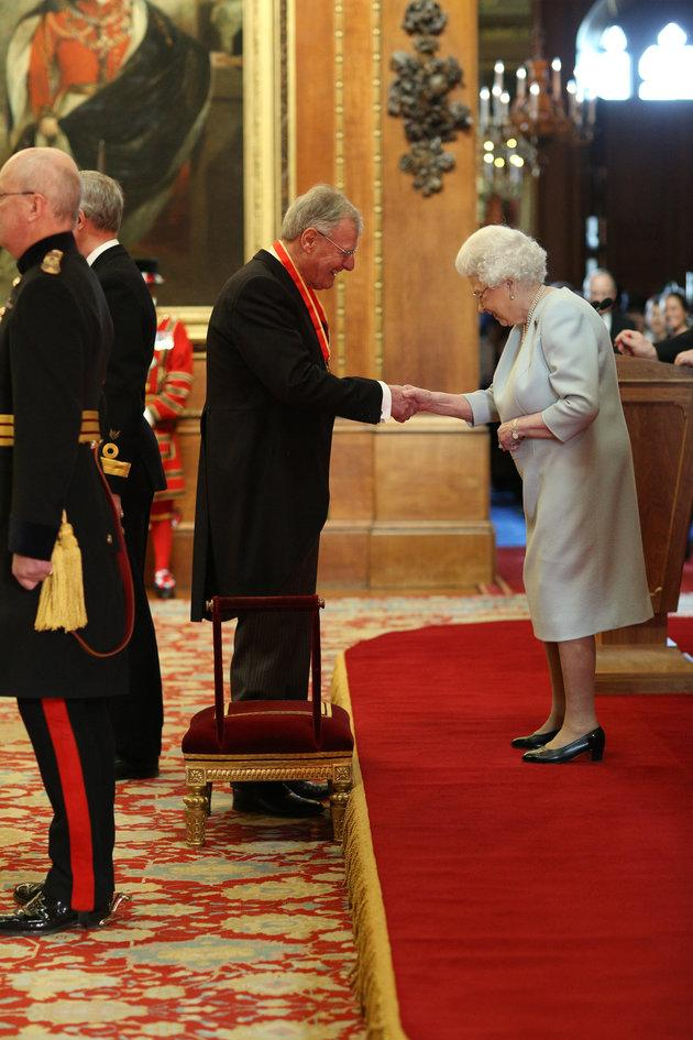 Christopher Chope receives his knighthood.