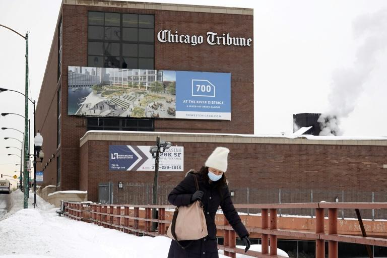 The Chicago Tribune, whose headquarters is seen here, is the flagship of the Tribune Publishing chain which is the object of a bidding war between a hedge fund and a civic-minded billionaire