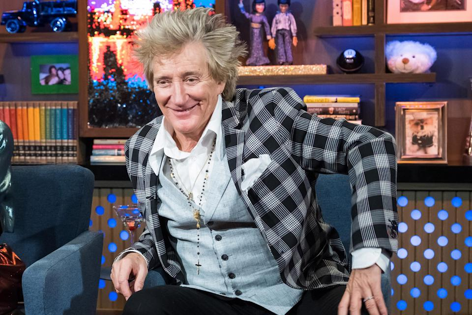 Rod Stewart, pictured in March, says he's never cooked a meal in his life — at 73. And when he would break up with a woman, his first thought was always about who would then cook for him. (Photo: Charles Sykes/Bravo/NBCU Photo Bank via Getty Images)