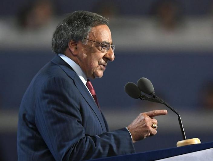 Former Defense Secretary Leon Panetta speaking at the Democratic National Convention. (Photo: Mark J. Terrill/AP)