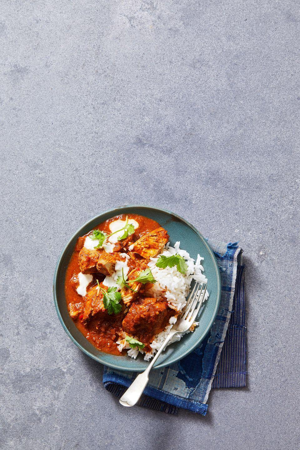 """<p>As if you need any more reason to make this flavorful Indian-style traditional curry, the recipe only calls for 30 minutes of total cooking time.</p><p><em><a href=""""https://www.goodhousekeeping.com/food-recipes/a7386/chicken-curry/"""" rel=""""nofollow noopener"""" target=""""_blank"""" data-ylk=""""slk:Get the recipe for Traditional Chicken Curry »"""" class=""""link rapid-noclick-resp"""">Get the recipe for Traditional Chicken Curry »</a></em></p>"""