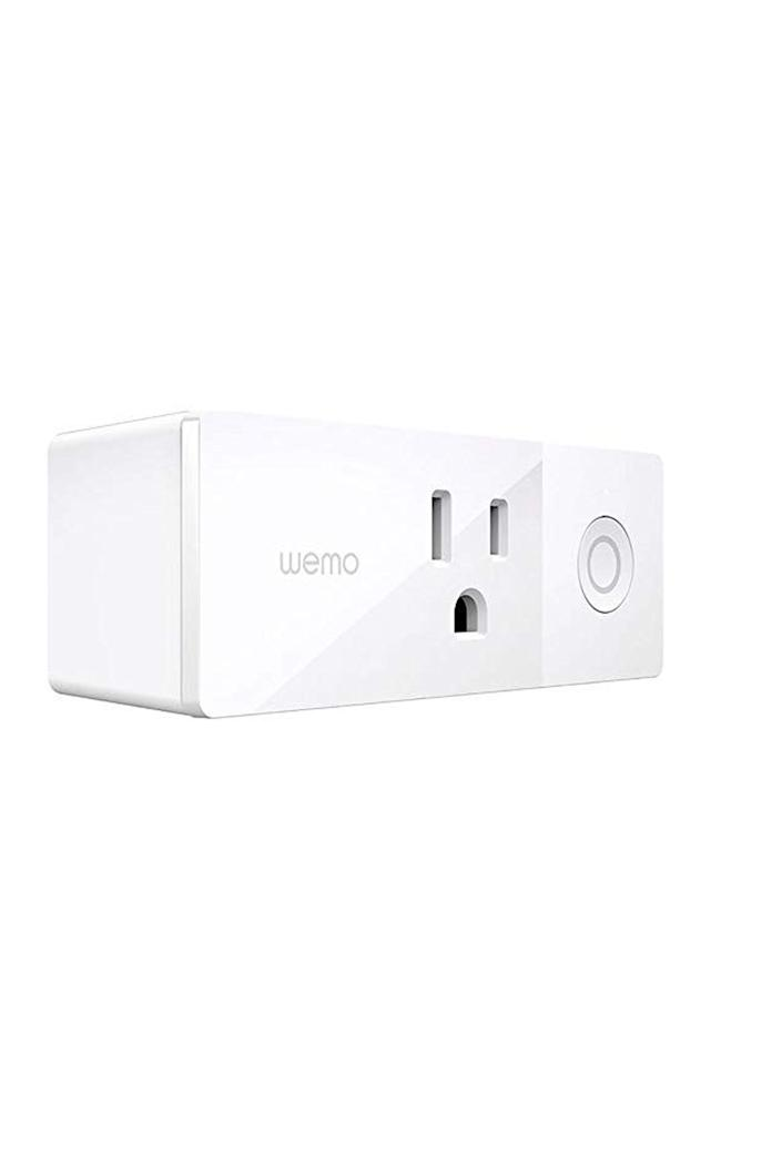 """<p><strong>Belkin</strong></p><p>amazon.com</p><p><strong>$23.99</strong></p><p><a href=""""https://www.amazon.com/dp/B01NBI0A6R?tag=syn-yahoo-20&ascsubtag=%5Bartid%7C10067.g.13094996%5Bsrc%7Cyahoo-us"""" rel=""""nofollow noopener"""" target=""""_blank"""" data-ylk=""""slk:Shop Now"""" class=""""link rapid-noclick-resp"""">Shop Now</a></p><p>This WiFi-enabled smart plug allows you to control your electronic devices from your phone. It works with Alexa, Google Assistant, and Apple HomeKit, so you can toggle the power on your lamp, fan, or whatever you have connected to the plug from wherever you are in the world. </p>"""