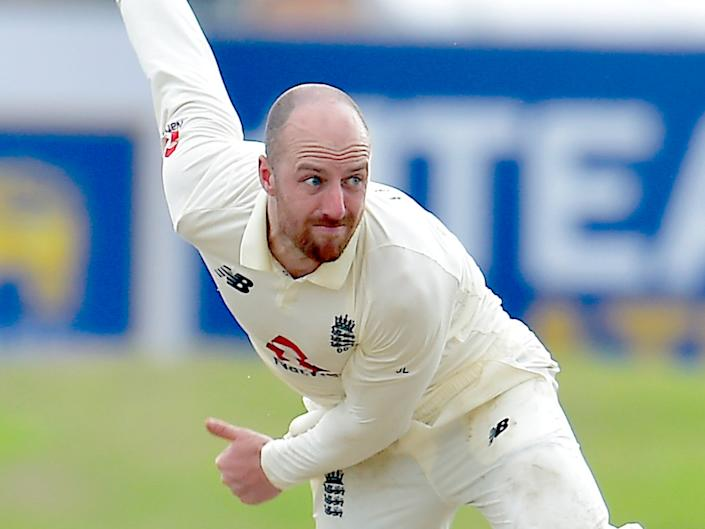 Jack Leach in action on day four (ECB)