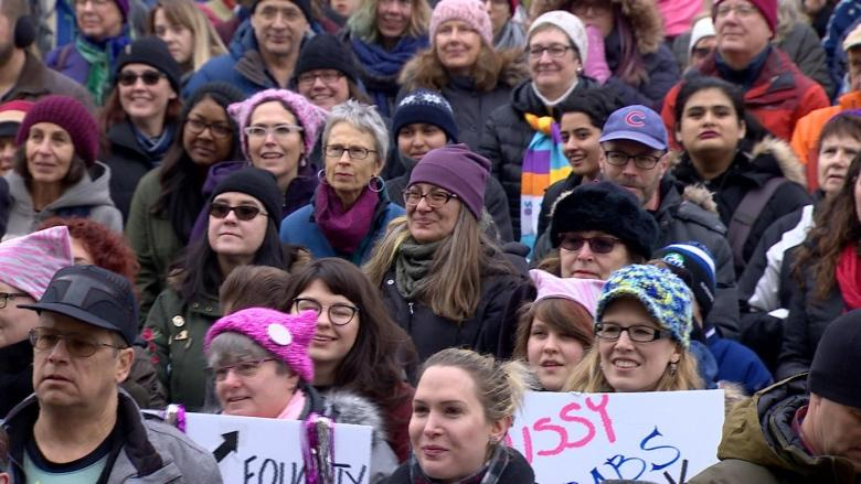 Edmonton Women's March participants continue to push for equality