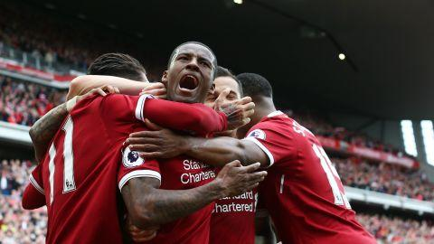 HD Gini Wijnaldum Liverpool celebrates